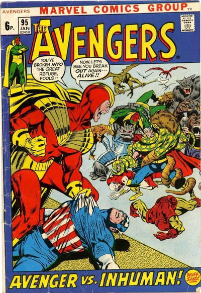 Cover for The Avengers (Marvel, 1963 series) #95 [Regular Edition]