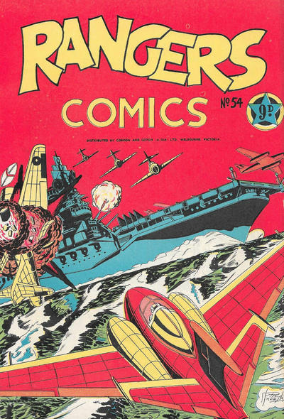 Cover for Rangers Comics (H. John Edwards, 1950 ? series) #54