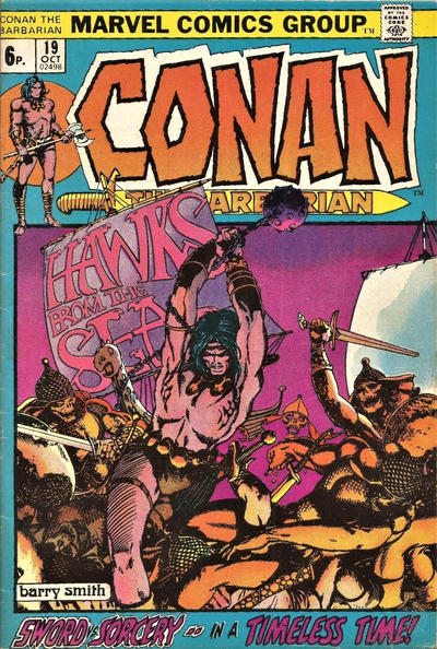 Cover for Conan the Barbarian (Marvel, 1970 series) #19 [British]