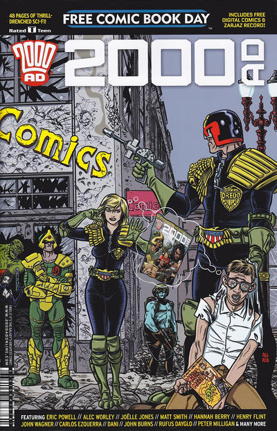 Cover for 2000 AD Free Comic Book Day (Rebellion, 2012 series) #2016