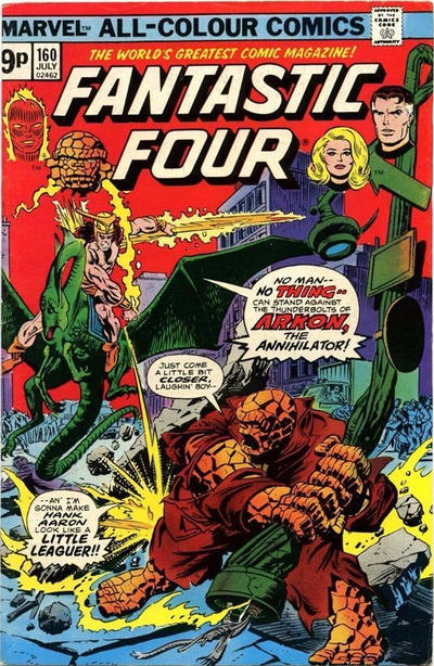 Cover for Fantastic Four (Marvel, 1961 series) #160 [Regular Edition]