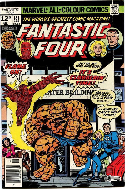 Cover for Fantastic Four (Marvel, 1961 series) #181 [Regular Edition]