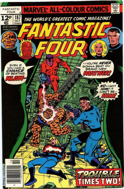 Cover for Fantastic Four (Marvel, 1961 series) #187 [30¢]