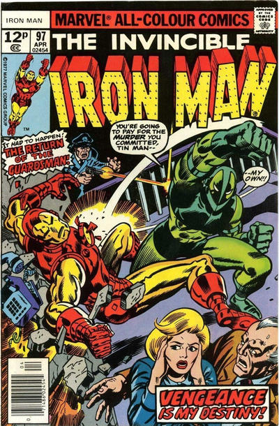 Cover for Iron Man (Marvel, 1968 series) #97 [Regular Edition]