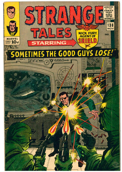 Cover for Strange Tales (Marvel, 1951 series) #138 [British]