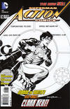 Cover for Action Comics (DC, 2011 series) #10 [Rags Morales Black & White Cover]