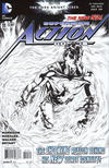 Cover for Action Comics (DC, 2011 series) #11 [Rags Morales Black & White Cover]