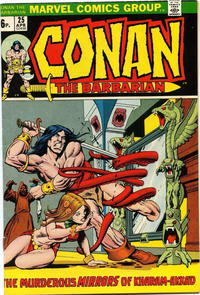 Cover Thumbnail for Conan the Barbarian (Marvel, 1970 series) #25 [British]