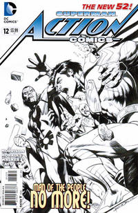 Cover Thumbnail for Action Comics (DC, 2011 series) #12 [Rags Morales Sketch Cover]