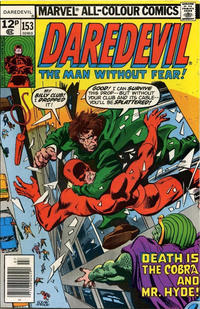 Cover Thumbnail for Daredevil (Marvel, 1964 series) #153 [British]