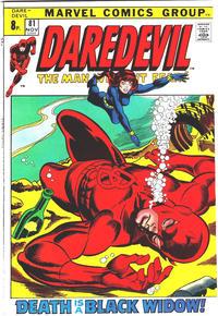 Cover Thumbnail for Daredevil (Marvel, 1964 series) #81 [British]