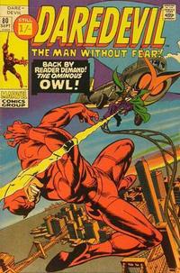 Cover Thumbnail for Daredevil (Marvel, 1964 series) #80 [British]