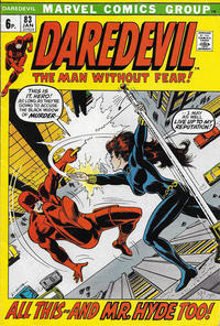 Cover Thumbnail for Daredevil (Marvel, 1964 series) #83 [British]