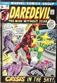 Cover Thumbnail for Daredevil (Marvel, 1964 series) #89 [British]