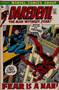Cover Thumbnail for Daredevil (Marvel, 1964 series) #90 [British]