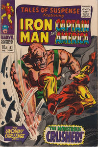 Cover Thumbnail for Tales of Suspense (Marvel, 1959 series) #91 [British]