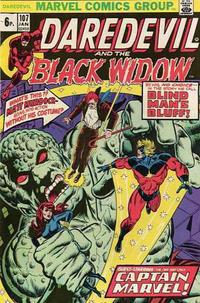 Cover Thumbnail for Daredevil (Marvel, 1964 series) #107 [British]