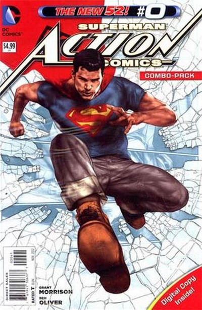 Cover for Action Comics (DC, 2011 series) #0 [Ben Oliver Cover]