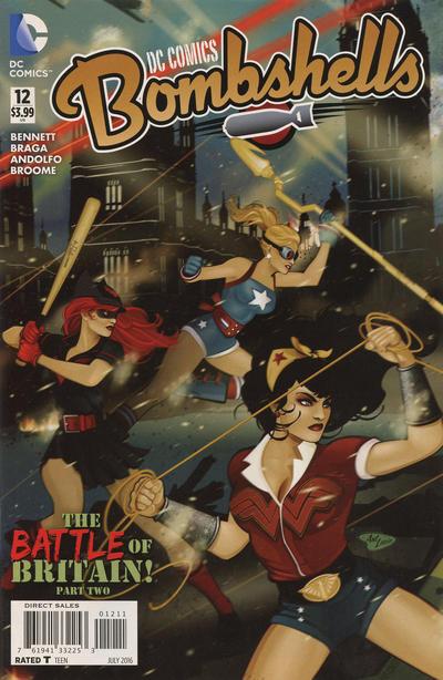 Cover for DC Comics: Bombshells (DC, 2015 series) #12