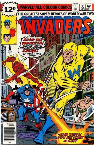Cover for The Invaders (Marvel, 1975 series) #35 [Regular Edition]