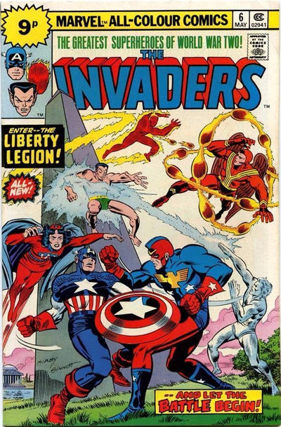 Cover for The Invaders (Marvel, 1975 series) #6 [25¢]