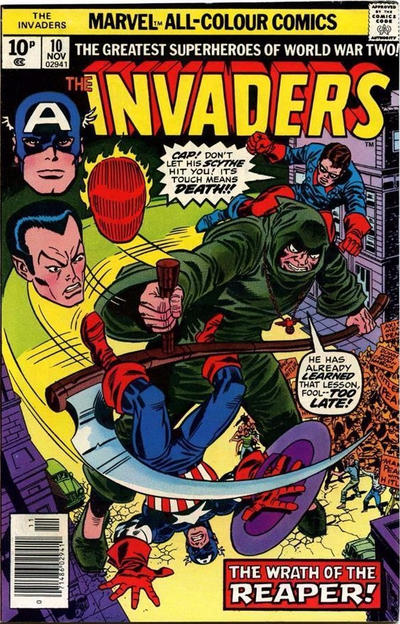 Cover for The Invaders (Marvel, 1975 series) #10 [British]
