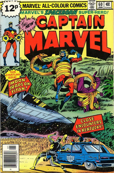 Cover for Captain Marvel (Marvel, 1968 series) #60 [Regular Edition]