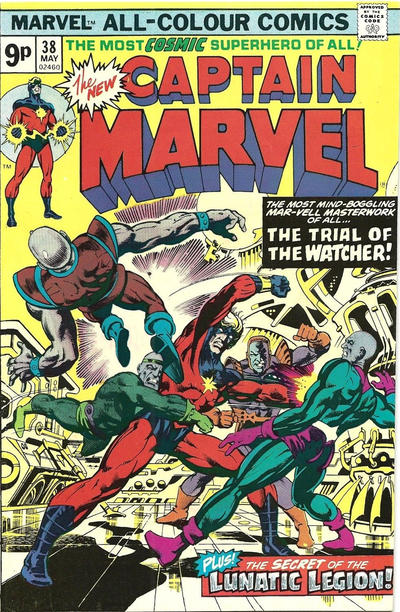 Cover for Captain Marvel (Marvel, 1968 series) #38 [Regular Edition]