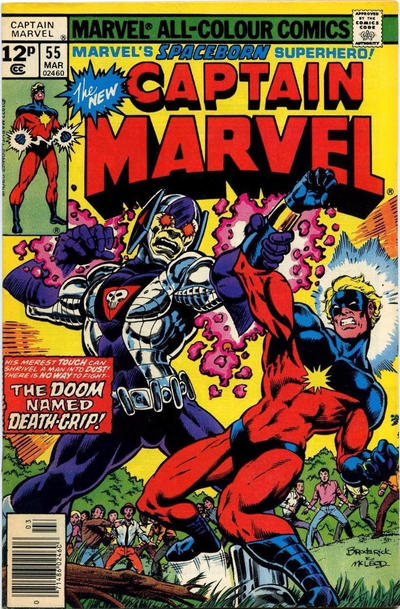 Cover for Captain Marvel (Marvel, 1968 series) #55 [Regular Edition]