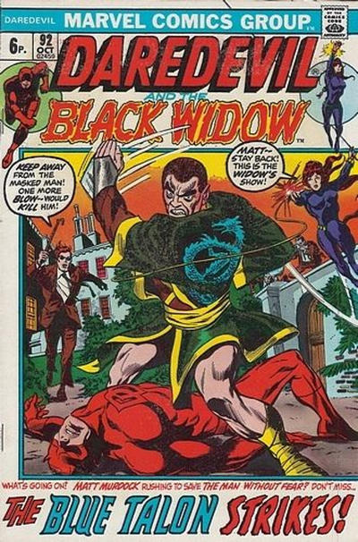 Cover for Daredevil (Marvel, 1964 series) #92 [Regular Edition]