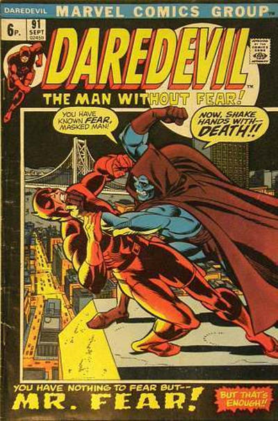 Cover for Daredevil (Marvel, 1964 series) #91 [Regular Edition]