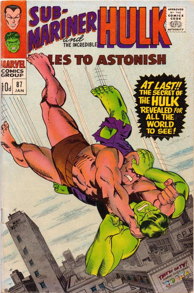 Cover for Tales to Astonish (Marvel, 1959 series) #87 [Regular Edition]