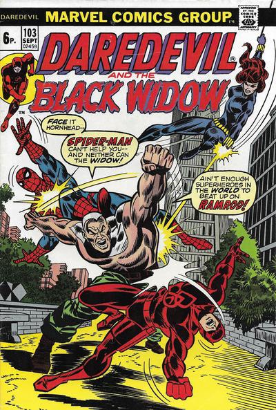 Cover for Daredevil (Marvel, 1964 series) #103 [British]