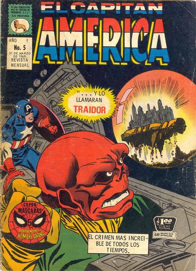 Cover for Capitán América (Editora de Periódicos La Prensa S.C.L., 1968 series) #5