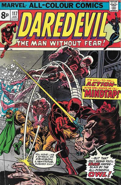 Cover for Daredevil (Marvel, 1964 series) #117 [Regular Edition]