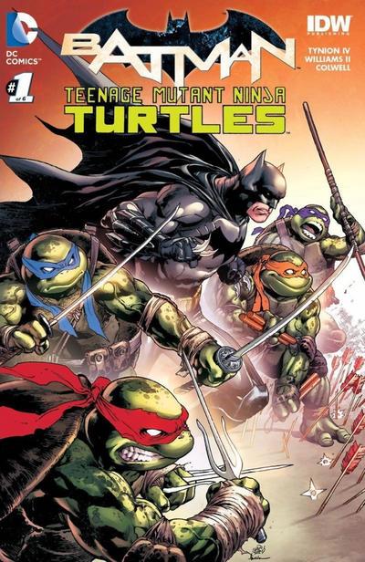 BATMAN TEENAGE MUTANT NINJA TURTLES #1 NEWBURY B/&W SKETCH VARIANT TMNT