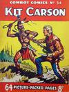 Cover for Cowboy Comics (Amalgamated Press, 1950 series) #54