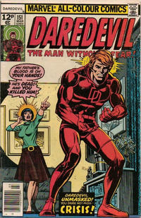 Cover Thumbnail for Daredevil (Marvel, 1964 series) #151 [British]