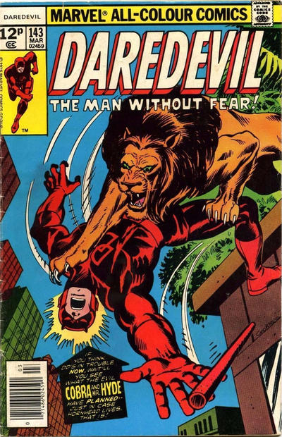 Cover for Daredevil (Marvel, 1964 series) #143 [Regular Edition]