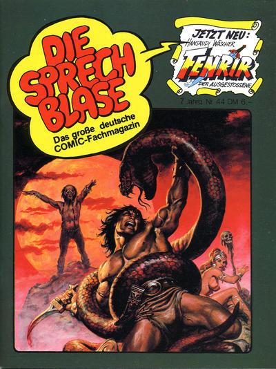 Cover for Die Sprechblase (Norbert Hethke Verlag, 1978 series) #44