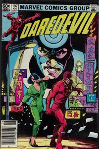 Cover Thumbnail for Daredevil (Marvel, 1964 series) #197 [Newsstand]