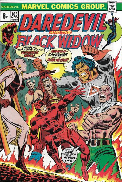 Cover for Daredevil (Marvel, 1964 series) #105 [Regular Edition]