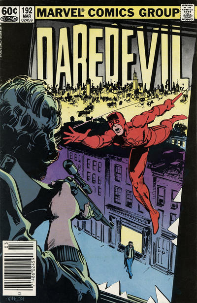 Cover for Daredevil (Marvel, 1964 series) #192 [Direct Edition]