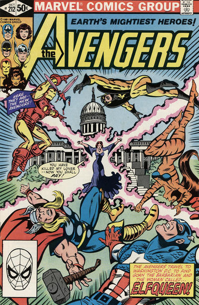 Cover for The Avengers (Marvel, 1963 series) #212 [Direct Edition]