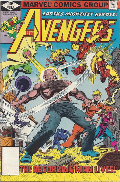 Cover for The Avengers (Marvel, 1963 series) #183 [Direct Edition]