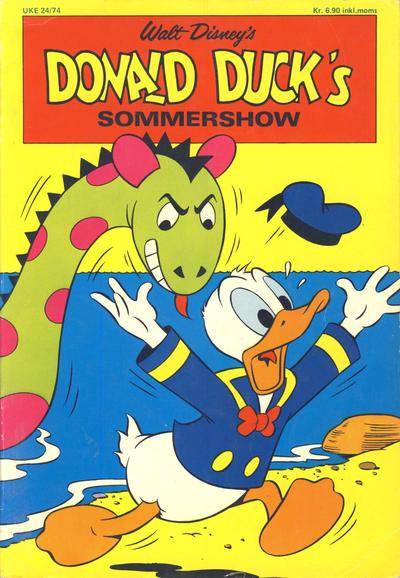 Cover for Donald Ducks Show (Hjemmet / Egmont, 1957 series) #[24] - Sommershow 1974