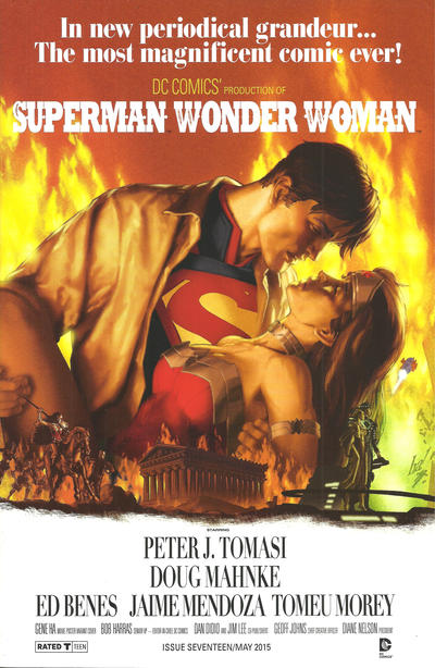 Cover for Superman / Wonder Woman (DC, 2013 series) #17 [Movie Poster Variant]