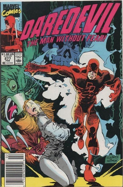 Cover for Daredevil (Marvel, 1964 series) #277 [Direct Edition]