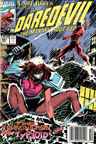 Cover for Daredevil (Marvel, 1964 series) #297 [Direct Edition]