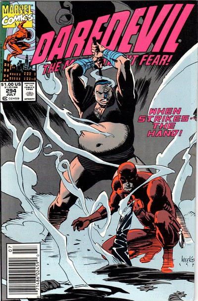 Cover for Daredevil (Marvel, 1964 series) #294 [Direct Edition]